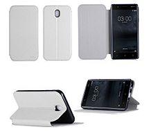 Etui Xeptio Nokia 6 4G  blanc Stand