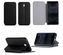 Etui Xeptio Nokia 6 4G  noir Stand