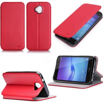 Xeptio Huawei Y6 2017 rouge avec stand