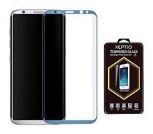 Protège écran Xeptio Samsung Galaxy S8 FULL cover bleu