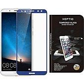 Protège écran Xeptio Honor View 10 verre trempé bleu