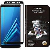 Protège écran Xeptio Samsung Galaxy A8 2018 verre trempé noir