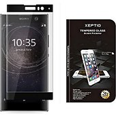 Protège écran Xeptio Sony Xperia XA2 verre trempé noir