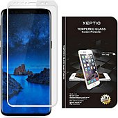 Protège écran Xeptio Samsung Galaxy S9 verre trempé argent