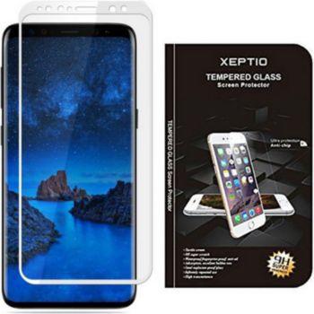 Xeptio Samsung Galaxy S9 verre trempé argent