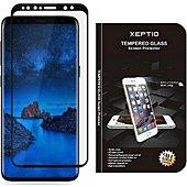 Protège écran Xeptio Samsung Galaxy S9 Plus verre trempé noir