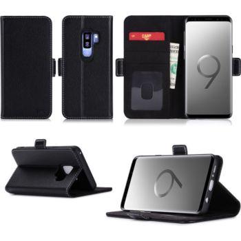 Xeptio Samsung Galaxy S9 Plus pochette noire