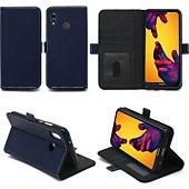 Housse Xeptio Huawei P20 Lite housse bleue