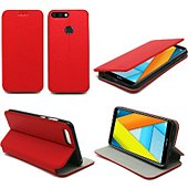 Housse Xeptio Honor 7A Etui rouge