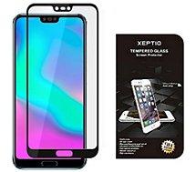 Protège écran Xeptio Huawei Honor 10 verre trempé full noir