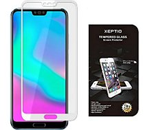 Protège écran Xeptio Huawei Honor 10 verre trempé full blanc
