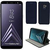 Housse Xeptio Samsung Galaxy A6 2018 Etui bleu