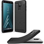 Coque Xeptio Samsung Galaxy A6 Plus 2018 carbone noir