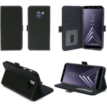 Xeptio Samsung Galaxy A6 2018 portefeuille noir