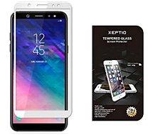 Protège écran Xeptio Samsung Galaxy A6 2018 full blanc