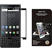 Protège écran Xeptio Blackberry Key2 verre trempé full noir