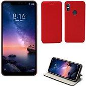 Housse Xeptio Xiaomi Redmi Note 6 PRO Etui rouge Slim
