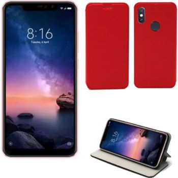 Xeptio Xiaomi Redmi Note 6 PRO Etui rouge Slim