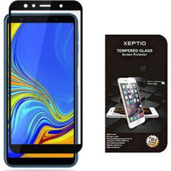 Xeptio Samsung Galaxy A7 2018 verre trempé noir
