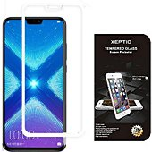 Protège écran Xeptio Honor 8X verre trempé blanc