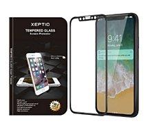 Protège écran Xeptio  Apple iPhone XR verre trempé noir