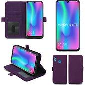 Housse Xeptio Honor 10 LITE portefeuille violet