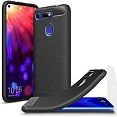 Coque Xeptio Honor View 20 carbone noir