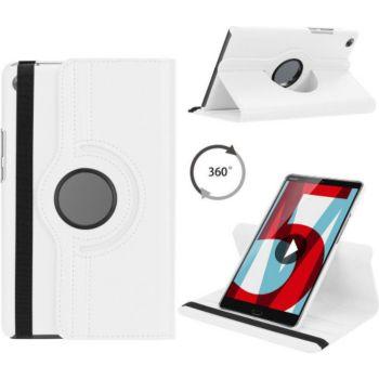 Xeptio HUAWEI MediaPad T5 10 Etui rotatif blanc