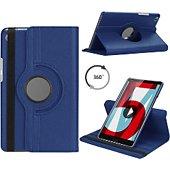 Housse Xeptio HUAWEI MediaPad T5 10 Etui rotatif bleu