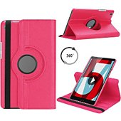 Housse Xeptio HUAWEI MediaPad T5 10 Etui rotatif rose