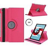Housse Xeptio HUAWEI MediaPad M5 10,8 rotatif rose