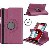 Housse Xeptio HUAWEI MediaPad T5 10 rotatif violet