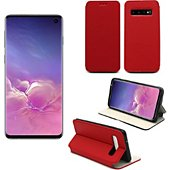 Housse Xeptio Samsung Galaxy S10 Etui rouge Slim
