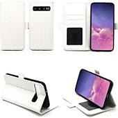 Housse Xeptio Samsung Galaxy S10 portefeuille blanc