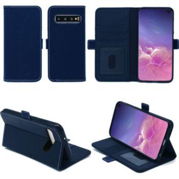 Xeptio Samsung Galaxy S10 portefeuille bleu