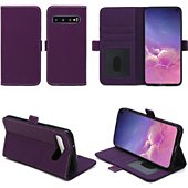 Housse Xeptio Samsung Galaxy S10 portefeuille violet