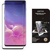Protège écran Xeptio Samsung Galaxy S10 gel tpu et full noir