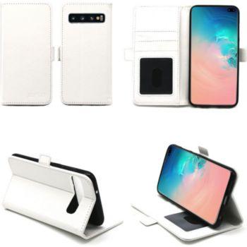 Xeptio Samsung Galaxy S10+ portefeuille blanc