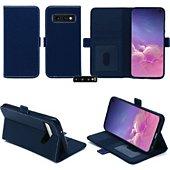 Housse Xeptio Samsung Galaxy S10E portefeuille bleu