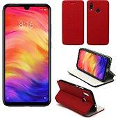 Housse Xeptio Xiaomi Redmi Note 7 Etui rouge Slim