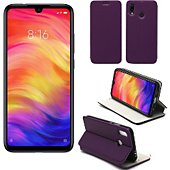 Housse Xeptio Xiaomi Redmi Note 7 Etui violet Slim