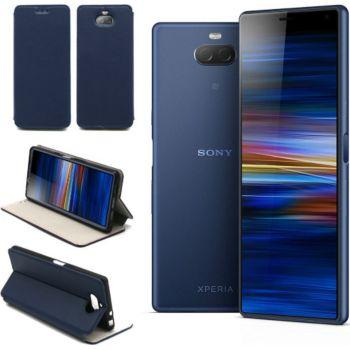 Xeptio Sony Xperia 10 Plus Etui bleu Slim