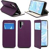 Housse Xeptio Huawei P30 PRO Etui violet Slim