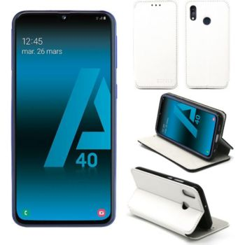 Xeptio Samsung Galaxy A40 Etui blanc Slim