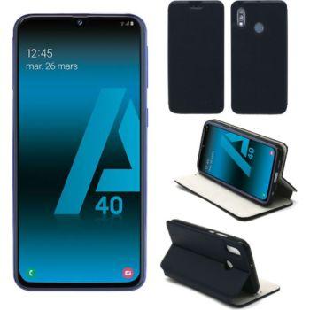 Xeptio Samsung Galaxy A40 Etui bleu Slim