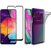 Protège écran Xeptio Samsung Galaxy A40 gel tpu et full noir