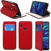 Housse Xeptio Huawei Y7 2019 Etui rouge Slim