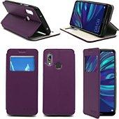 Housse Xeptio Huawei Y7 2019 Etui violet Slim