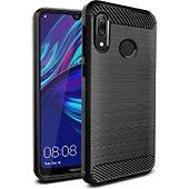 Coque Xeptio Huawei Y7 2019 carbone noir
