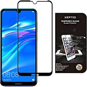 Protège écran Xeptio Huawei Y7 2019 vitre noir
